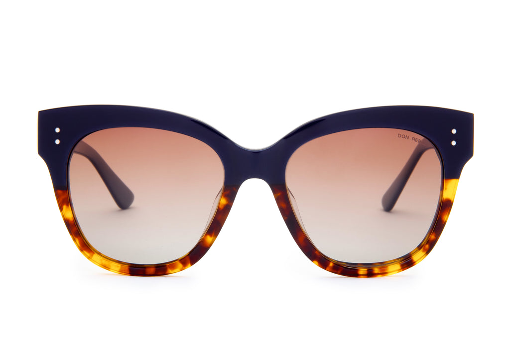 ZOE NAVY / TORTOISE BOTTOM OVERSIZED SUNGLASSES,