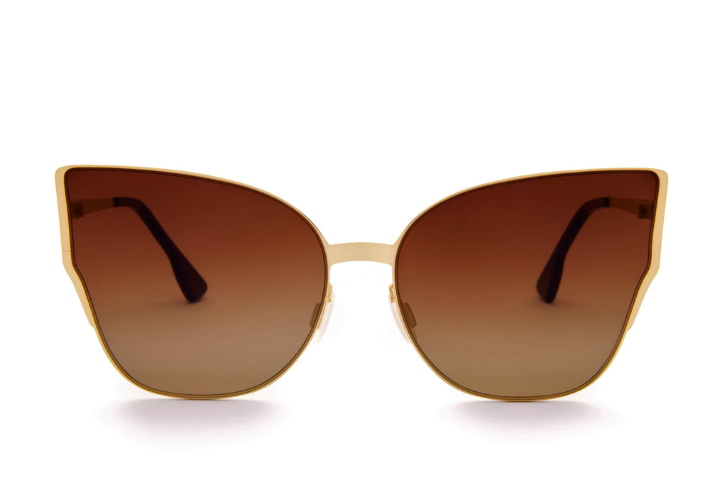 MARIAH BROWN OVER SIZED CAT EYE SUNGLASSES - Don Rebel