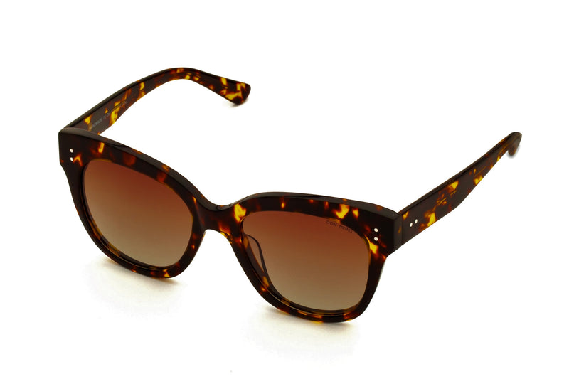 ZOE TORTOISE OVERSIZED SUNGLASSES POLARIZED,
