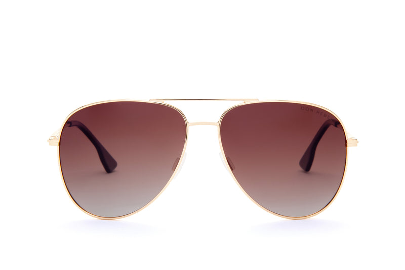 MARIAH BROWN OVER SIZED CAT EYE SUNGLASSES