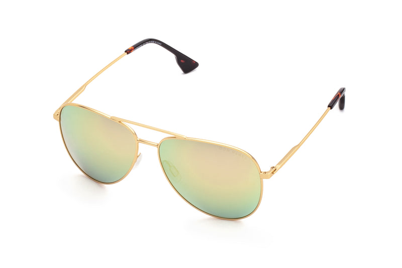 BILLY BLACK ELEVATED AVIATOR SUNGLASSES,