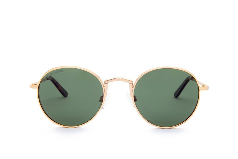 STRUMMER GREEN ROUND FLAT MIRRORED LENSES,