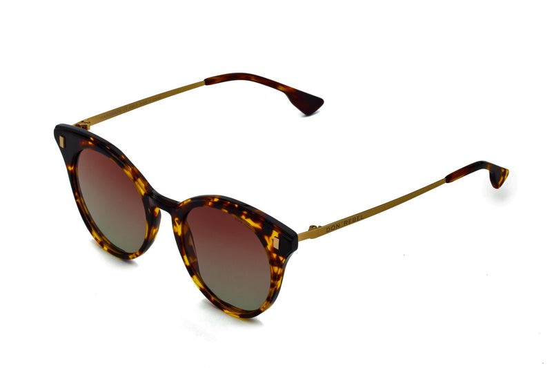 MEMPHIS BLACK GRADIENT BOLD CAT EYE SUNGLASSES POLARIZED,