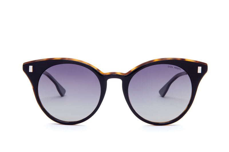 JANIS MULTI-COLORED PENTAGON SHAPED MIRRORED SUNGLASSES