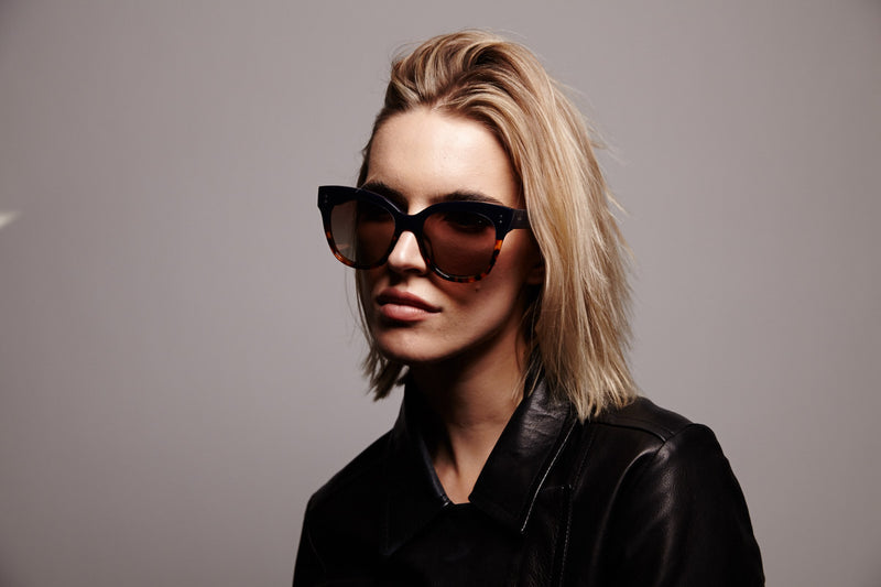 ZOE BLACK ORIGINAL OVERSIZED SUNGLASSES,