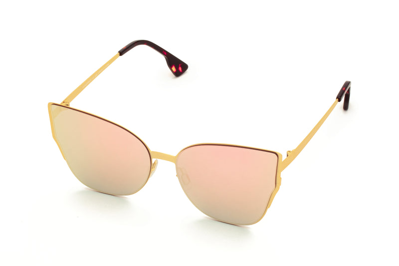 MARIAH PINK OVER SIZED CAT EYE SUNGLASSES,
