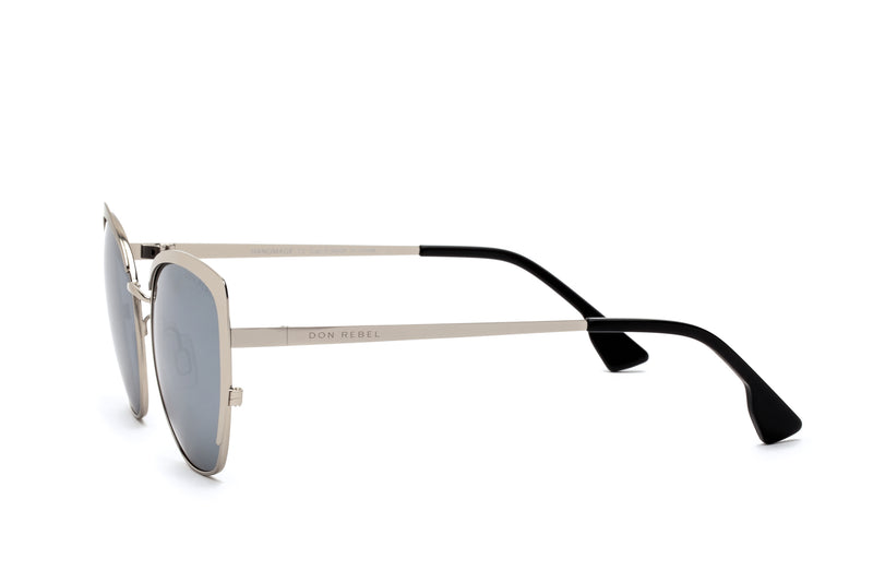 BEV GOLD LENS CAT EYE SUNGLASSES,