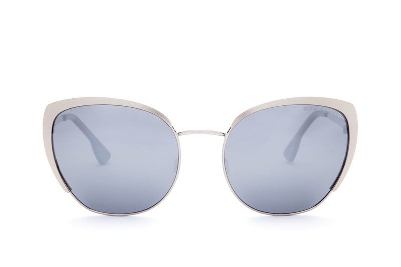 JAGGER GREY ROUNDED PENTAGONAL FLASH SUNGLASSES
