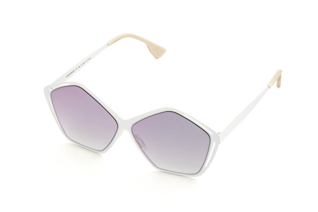 JANIS MULTI-COLORED PENTAGON SHAPED MIRRORED SUNGLASSES - Don Rebel