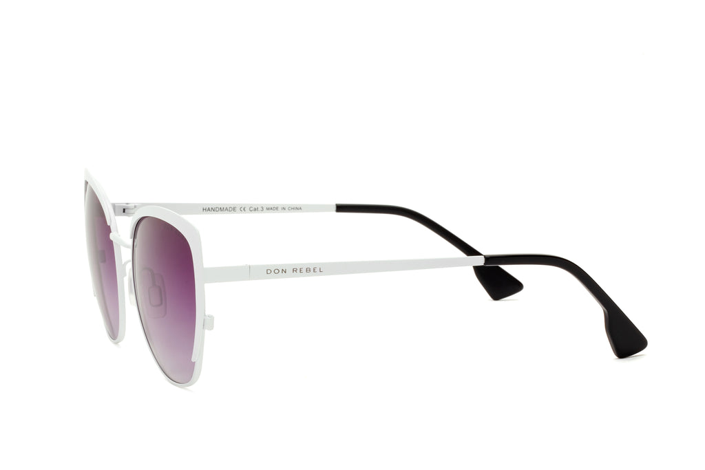 BEV GREY CAT EYE HEAVY WING SUNGLASSES,