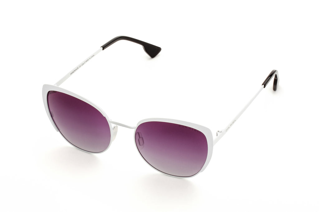 BEV WHITE CAT EYE SUNGLASSES,