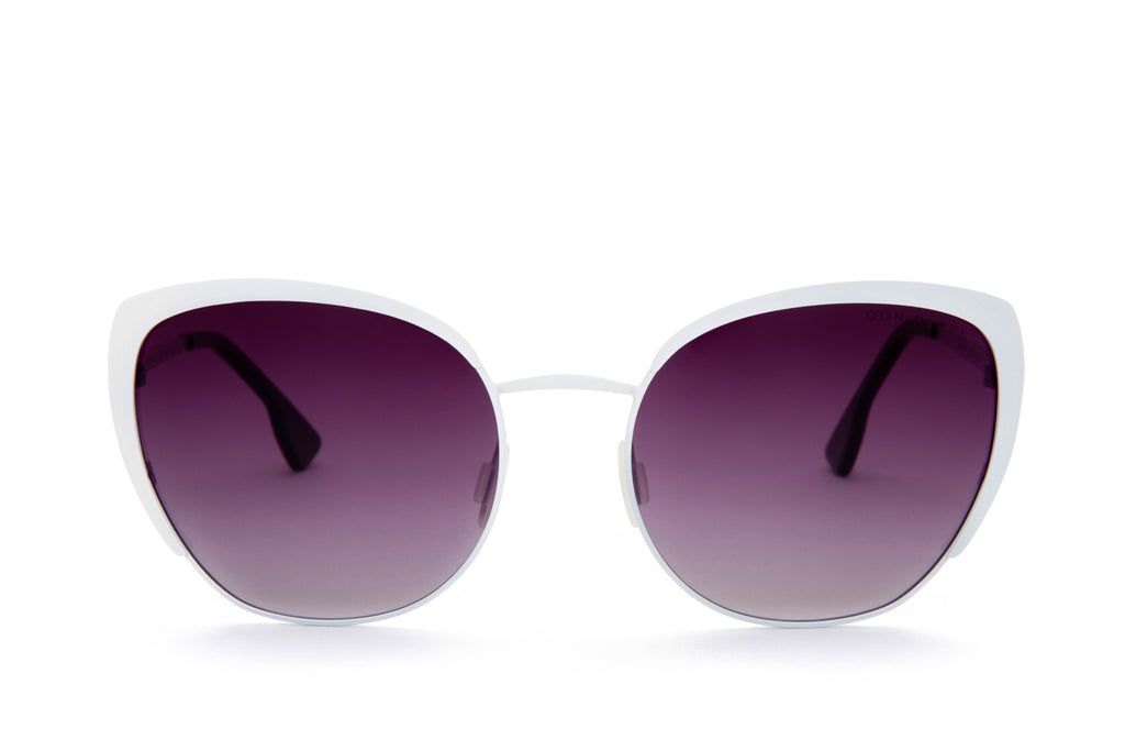 BEV WHITE CAT EYE SUNGLASSES - Don Rebel