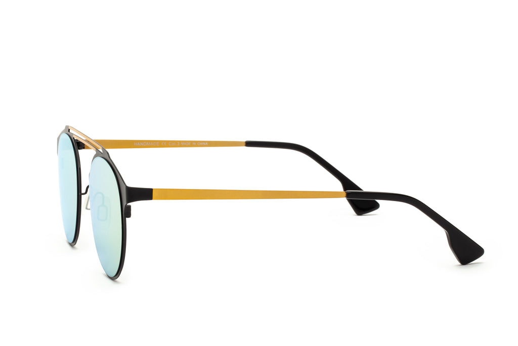 DECO GOLD DOUBLE BRIDGE SUNGLASSES,