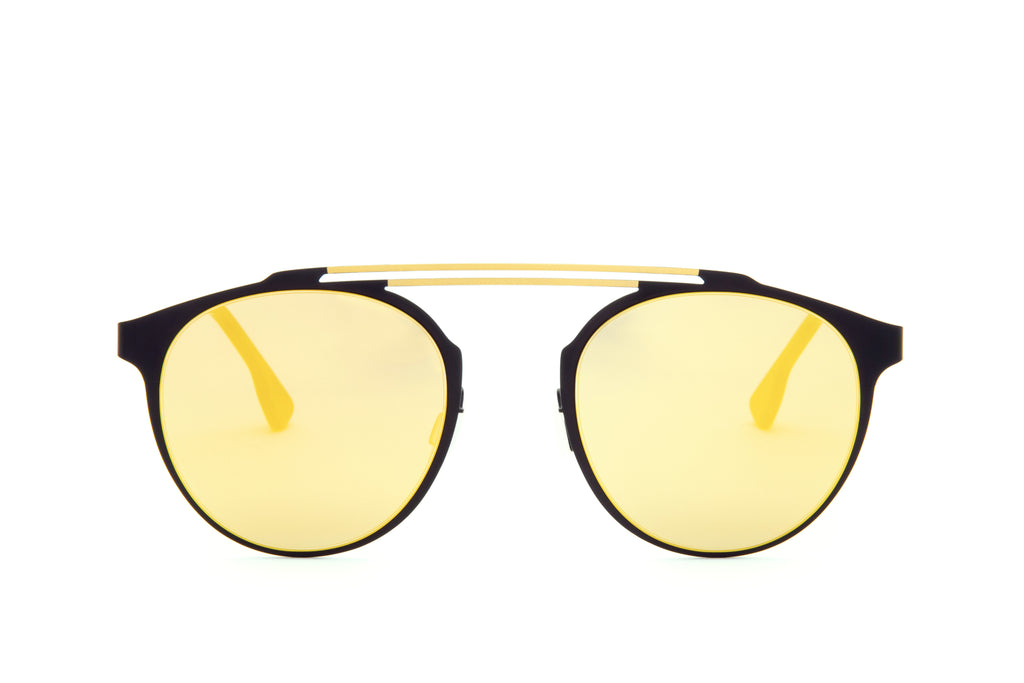 DECO GOLD DOUBLE BRIDGE SUNGLASSES - Don Rebel