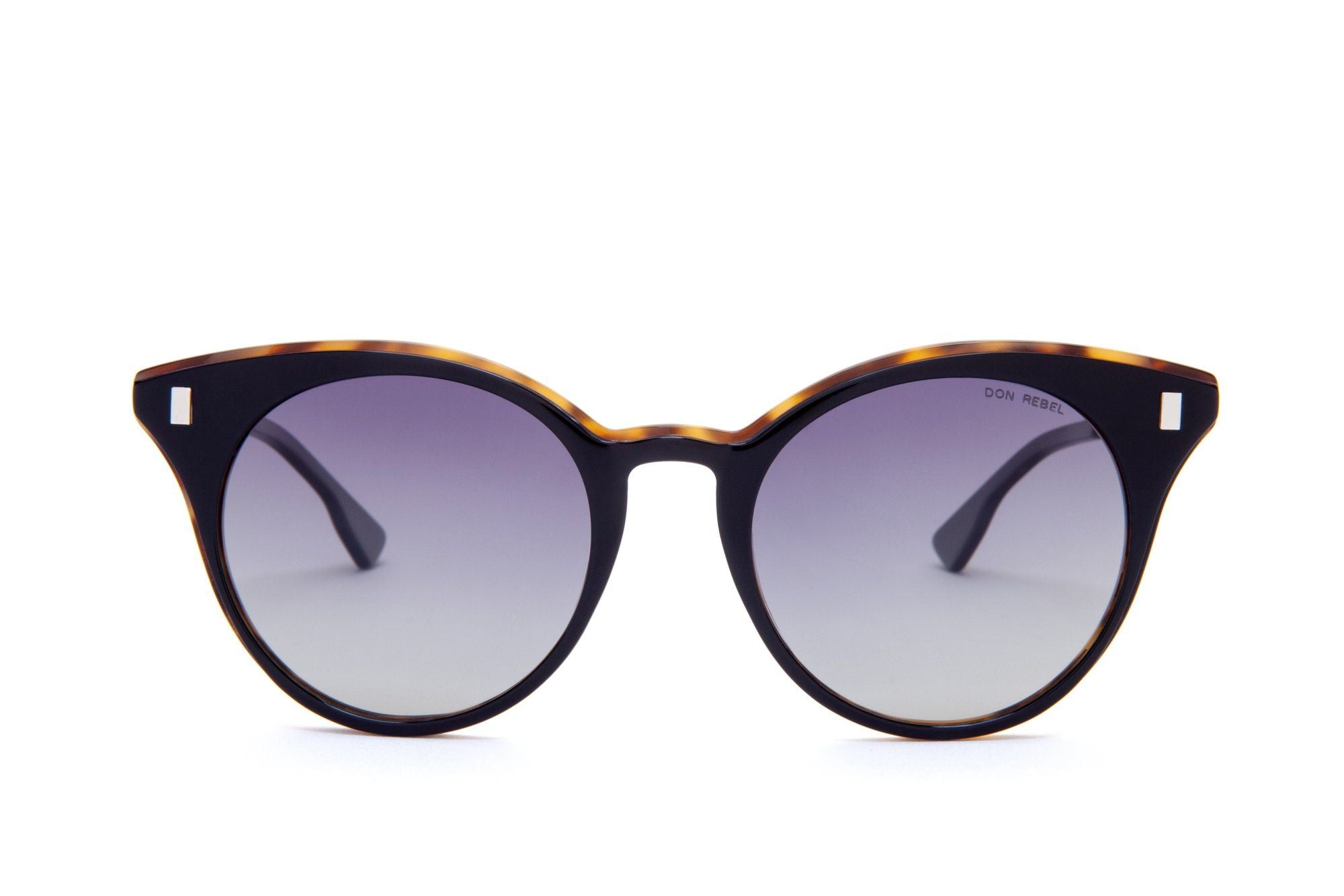 MEMPHIS BLACK GRADIENT BOLD CAT EYE SUNGLASSES