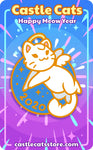 "2020 ""Meow"" Year Pin - Castle Cats"