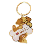 I LOVE DOGS Keychain