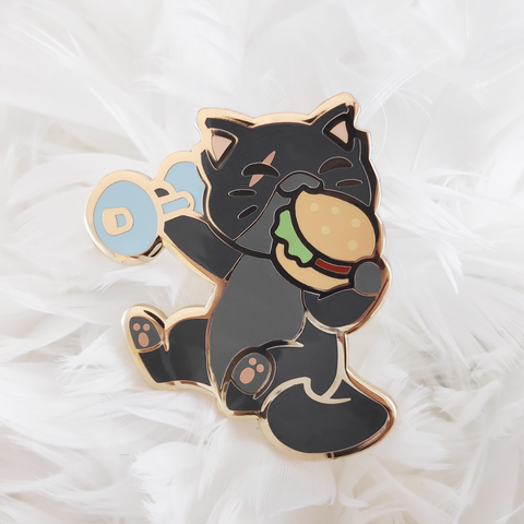 "Molotov ""Burger Workout"" Pin"