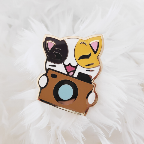 "FINAL SALE: Purrcilla ""Camera"" Pin"