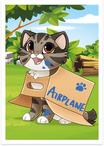 "Bob ""Airplane"" Print - Castle Cats"