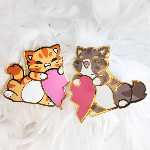 "Bob & Curio ""Friendship"" Pins - Castle Cats"