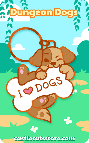 I <3 DOGS Keychain - Castle Cats Store