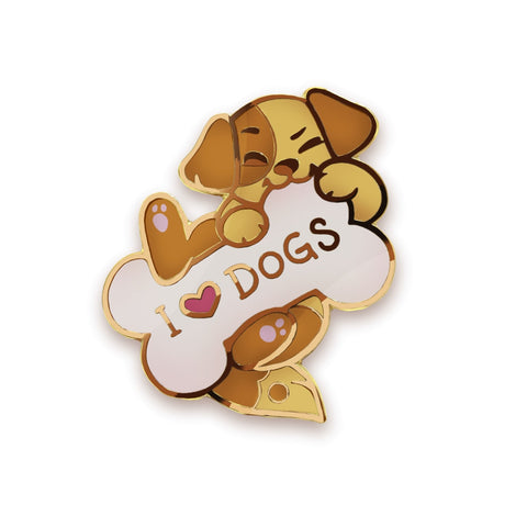 I <3 DOGS Pin - Castle Cats Store