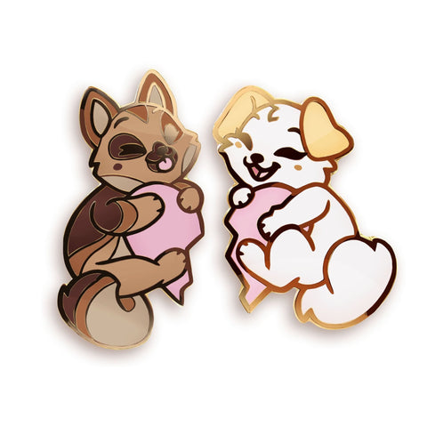 "Lyra & Fendo ""Friendship"" Pins - Castle Cats Store"