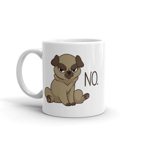 "Pug ""NO"" Mug - Castle Cats Store"