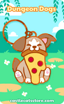 "Pupperoni ""Pizza"" Keychain - Castle Cats Store"