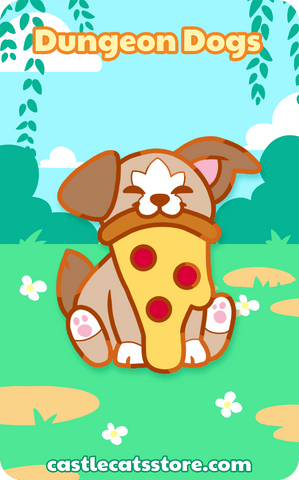 "Pupperoni ""Pizza"" Pin - Castle Cats Store"