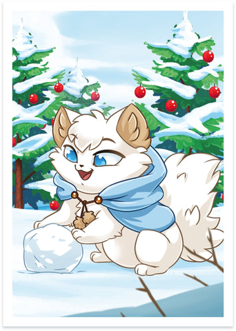 "Snowball ""Winter"" Print - Castle Cats"