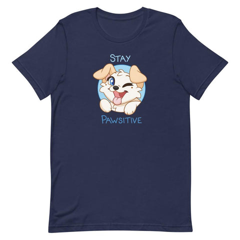 Stay Pawsitive - Unisex T-Shirt - Castle Cats Store
