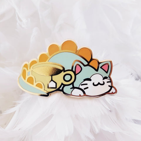 Tea-Rex Pin - Castle Cats