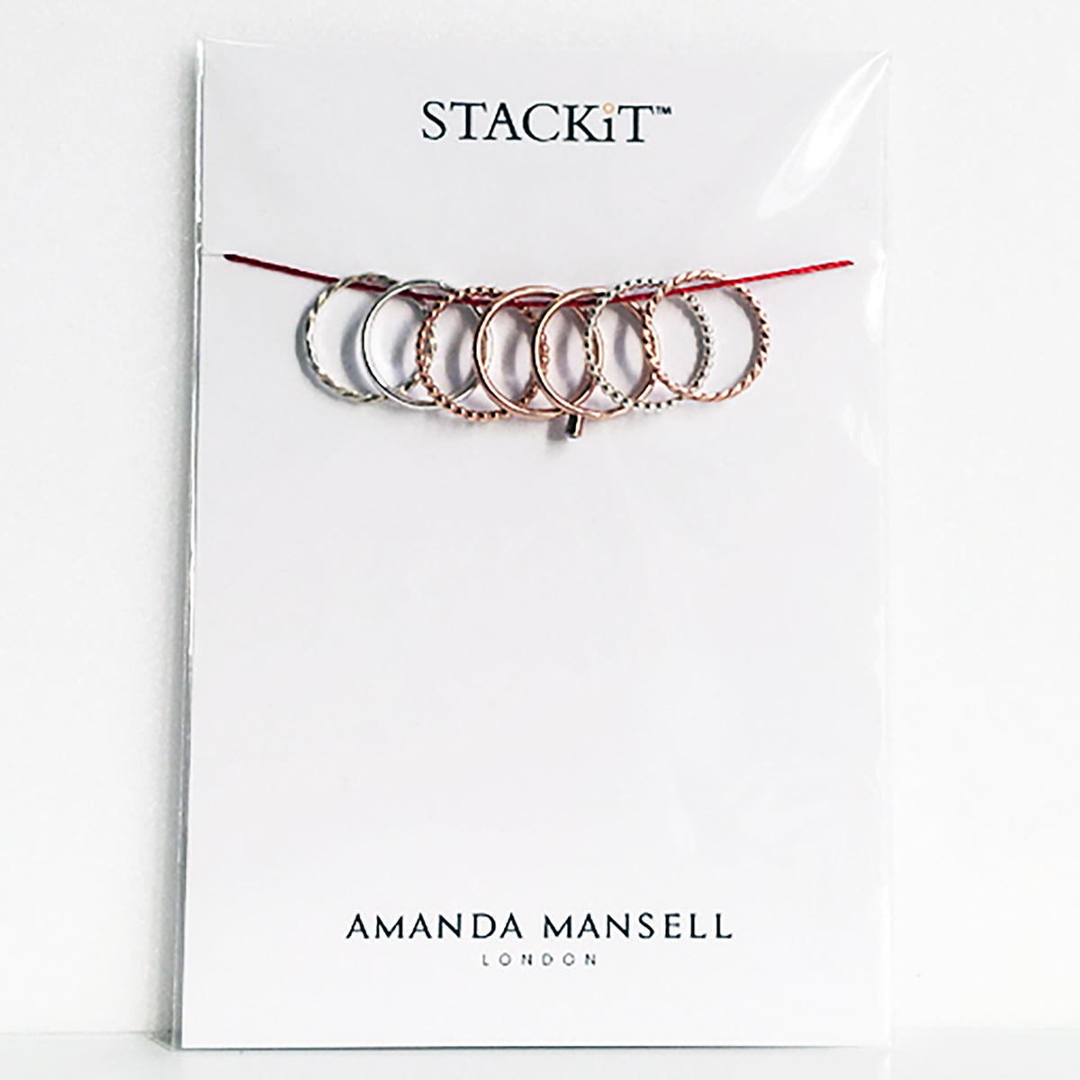 STACKiT silver and sliver gold plated stack rings