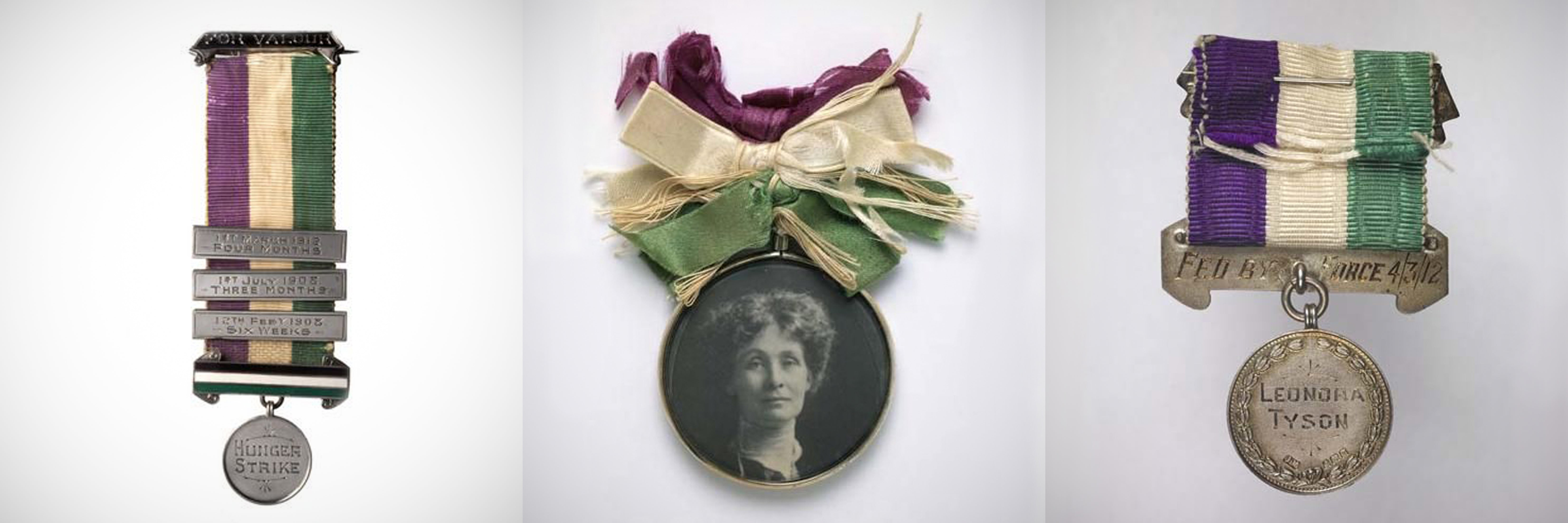 Brooches worn during the suffragettes movement