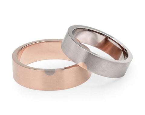 Arc Wedding Ring - Rose Gold