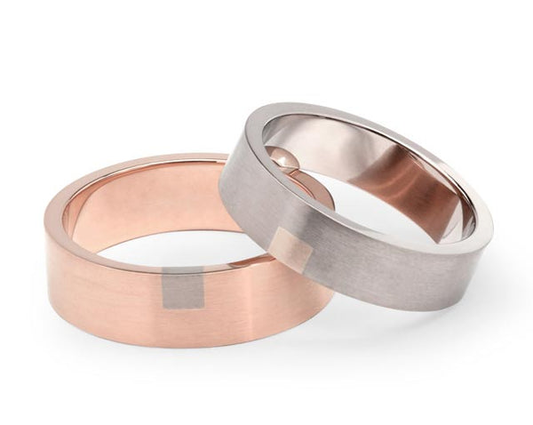 Box Wedding Ring - Rose Gold