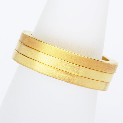 Stack ring ~ Flat Satin Gold Vermeil