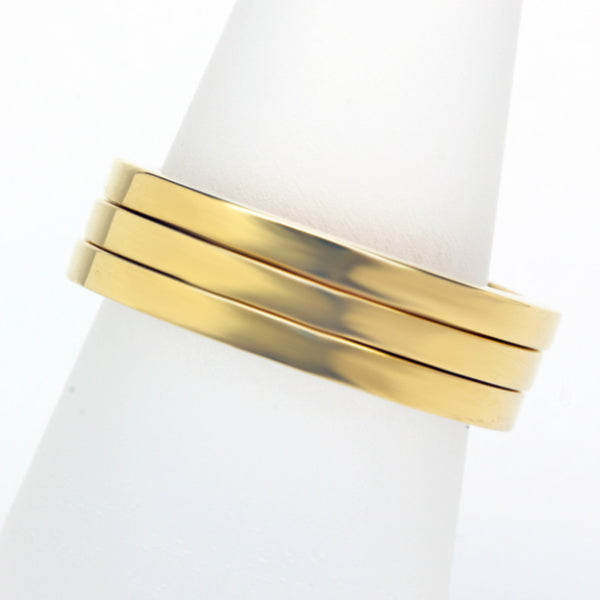 Stack ring ~ Flat Shiny Gold Vermeil