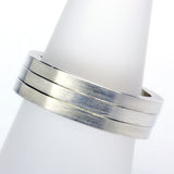 Stack ring ~ Flat Satin Silver