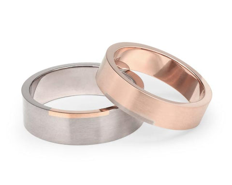 Rectangle Wedding Ring - Rose Gold