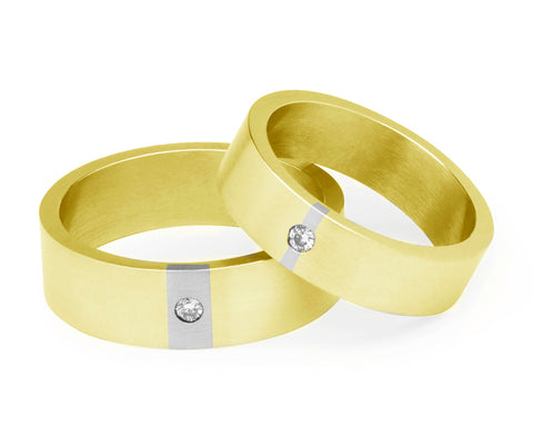 Diamond Wedding Ring - Yellow Gold