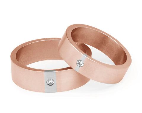 Diamond Wedding Ring - Rose Gold