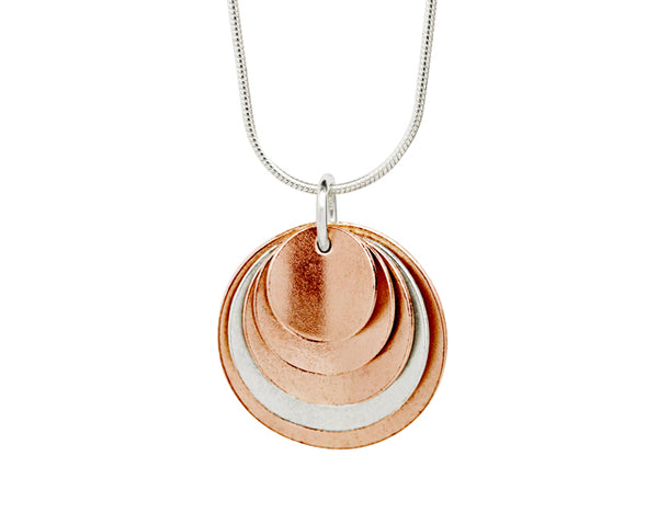 Pendant– 18ct Gold: Rose & white
