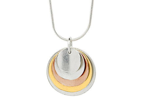 Pendant–18ct Gold: White, Rose & Yellow