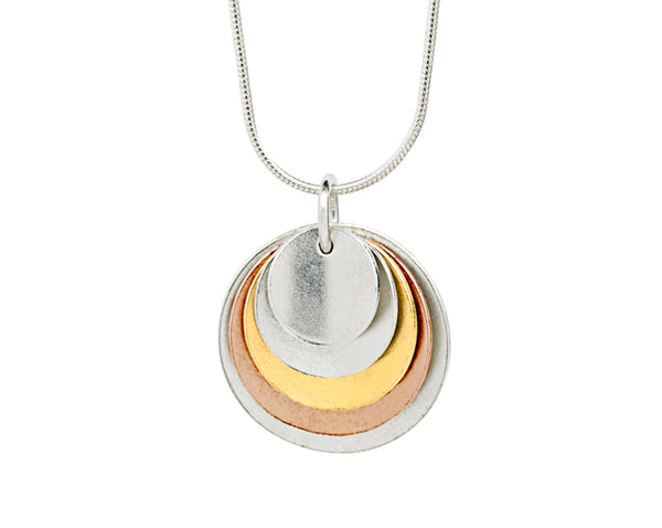 Pendant–18ct Gold: White, Yellow & Rose