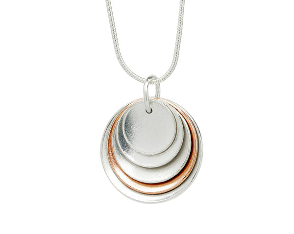 Pendant–18ct Gold: Rose & white