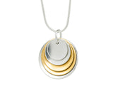 Pendant–18ct Gold:White & Yellow