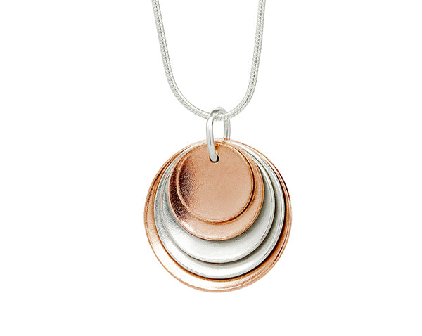 Pendant–Rose gold plated silver